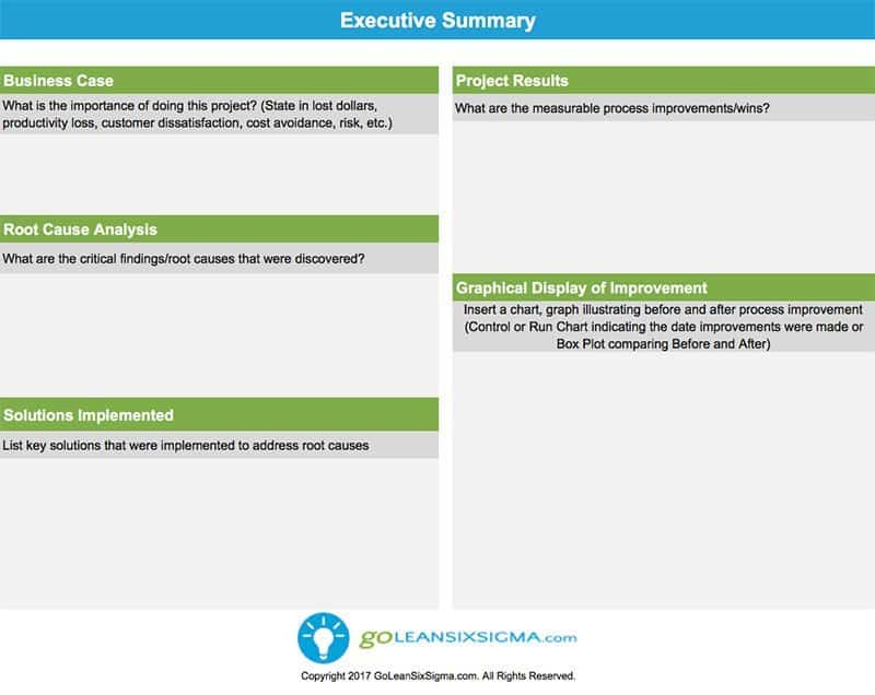 Executive Summary - GoLeanSixSigma