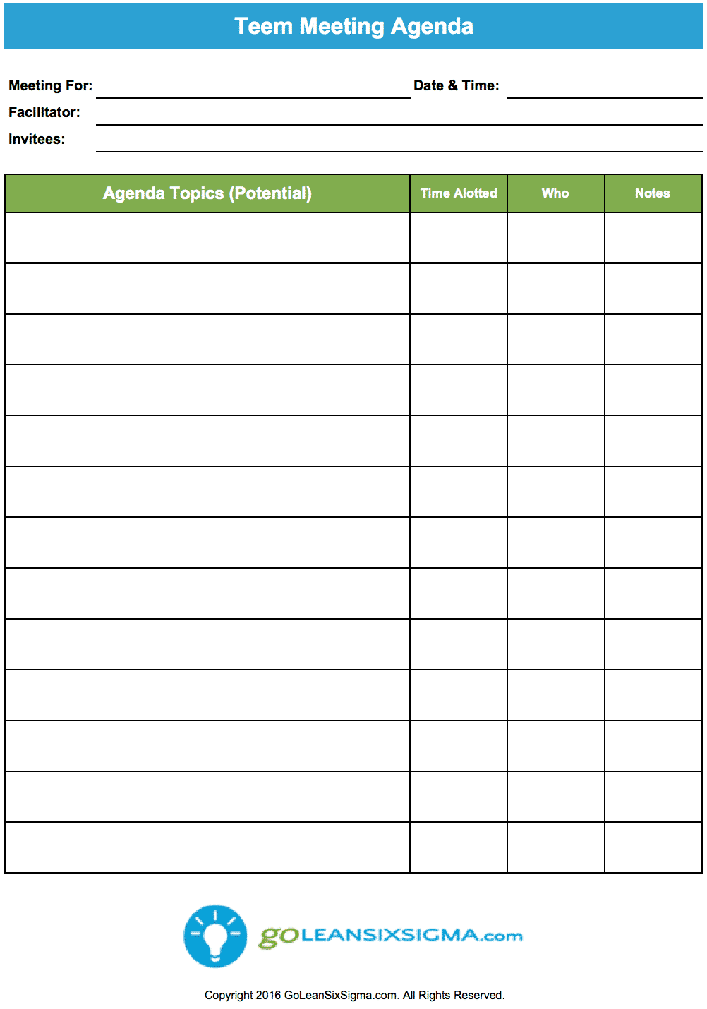 agenda outline format