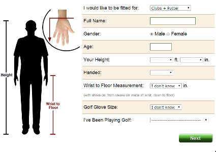 Custom Golf Clubs \u2013 Free Online Fitting Tool