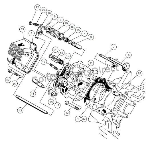 1989 club car engine diagram