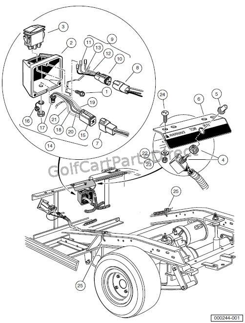 wiring diagram also club car golf cart wiring diagram on solenoid