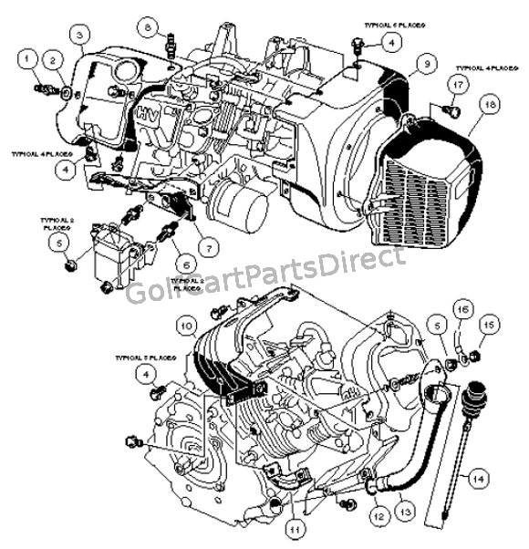 club car engine diagram