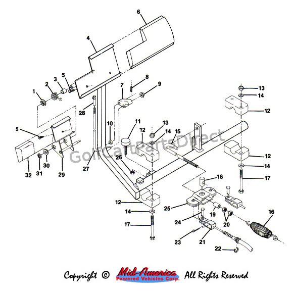 gas club car parts diagram