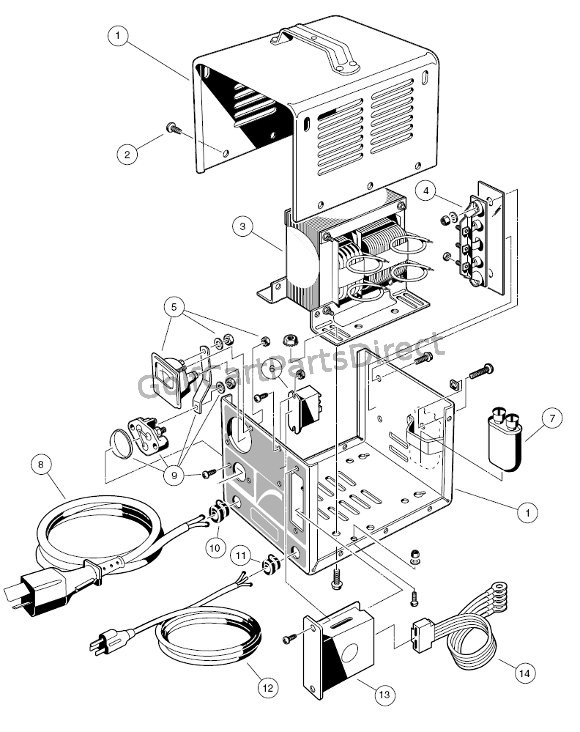 club car charger diagram