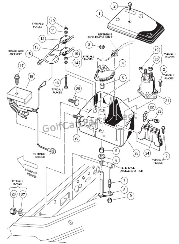 For Club Car 36 Volt Wiring Diagram Free Picture Electrical Box Gas Club Car Parts Amp Accessories