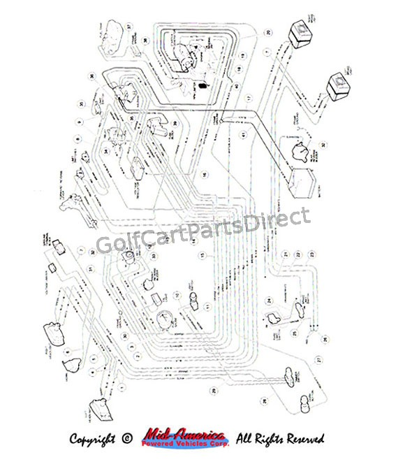 wiring diagram for gas golf cart