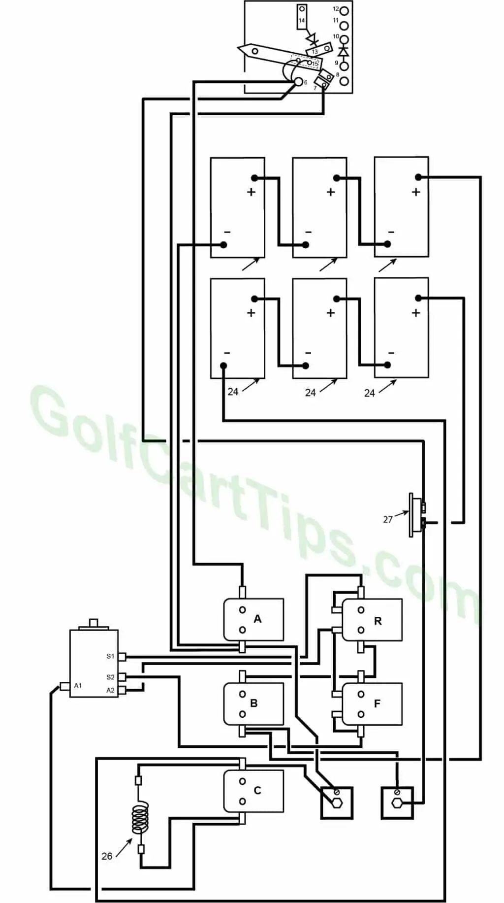 ezgo golf cart wiring diagram on golf cart ke light switch wiring