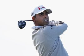 Anirban Lahiri struggled with the swirling wind at TPC Scottsdale in a second round 74