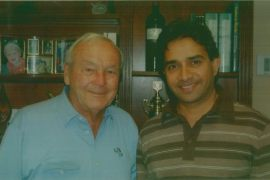 Aakash Ohri with Arnold Palmer