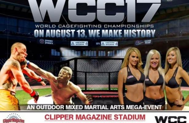 LIVE PPV:  World Cagefighting Championships Presents: WCC 17 Sat, August 13th, 2016