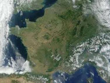 France vue de l'espace
