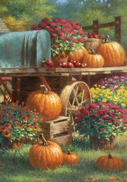 Fall Harvest Wallpaper Hd Fall Garden Flags Golly Gee Gardening