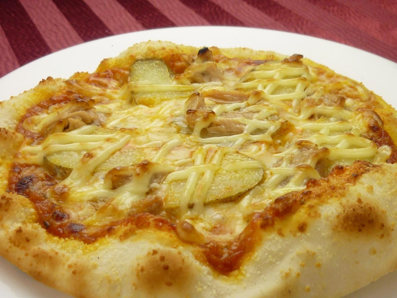 ツナとマヨじゃがのピザ