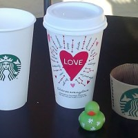 Starbucks Valentine's Day Love Heart cups and limited edition Raspberry Cake Pops