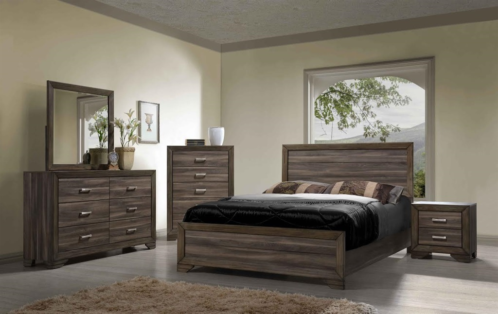 Majik Asheville Driftwood Queen Panel Bed Dresser