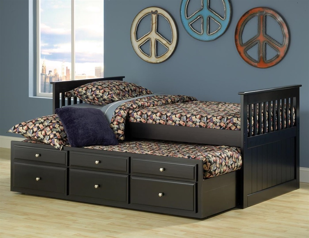 Majik Logan Twin Captain 39 S Bed With Trundle Storage