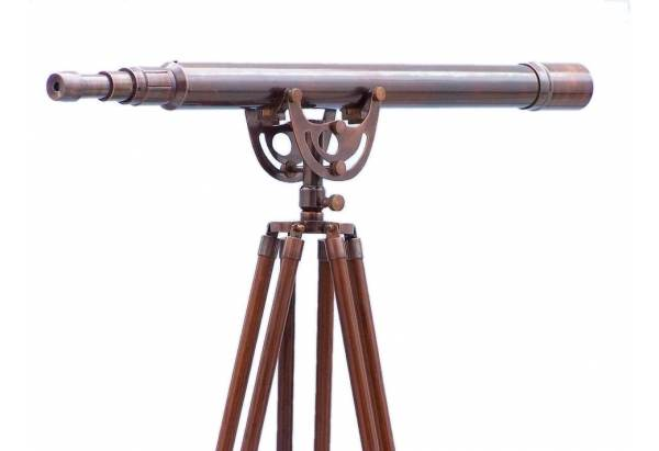 Floor Standing Antique Copper Anchormaster Telescope