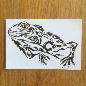イグアナをモチーフにした、シンプルなタトゥー(tattoo)のデザインとしても使える絵のオーダーメイド
