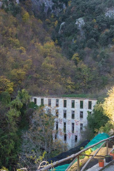 Paper mill ruins