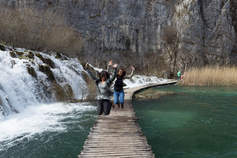Jumping with joy at Plitvice Lakes, Croatia // Photos and stories from a week in Croatia // Memories from the Balkans // Dubrovnik, Split, and Zagreb