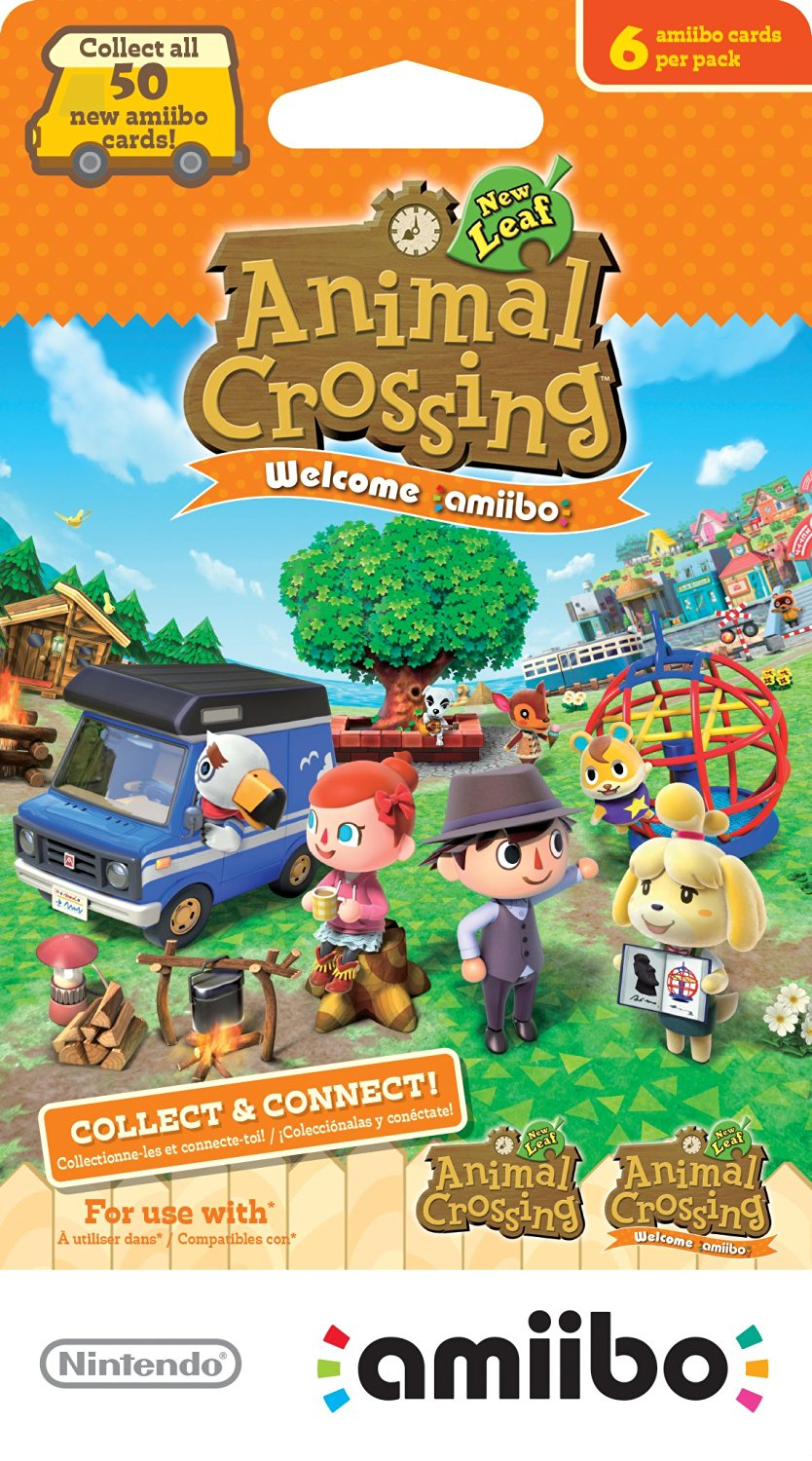 Amiibo Crossing Animal Crossing New Leaf Welcome Amiibo Cards 6 Pack Package