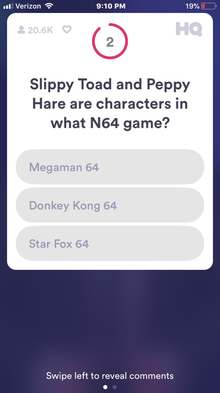 Live Hq Starfox Question Pops Up During Tonight S Live Hq Game Gonintendo