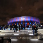 The Superdome lit up for Allstate Sugar Bowl. (Photo: Cheryl Gerber)