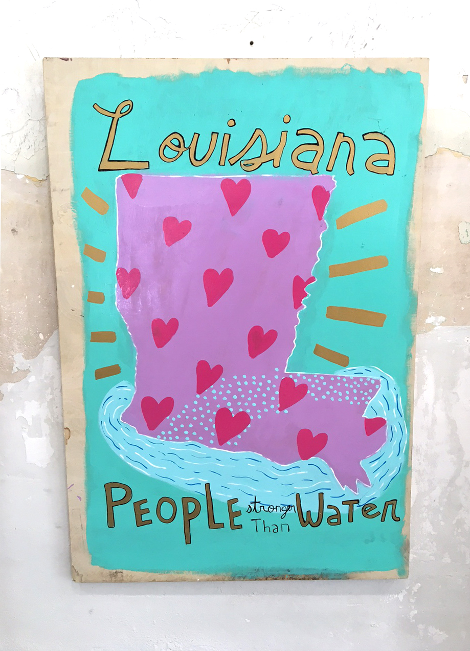 """Louisiana: People Stronger Than Water,"" by Devin DeWulf, oil on Canvas or oil on Wood, 20"" x 24"", proceeds go to APEL"