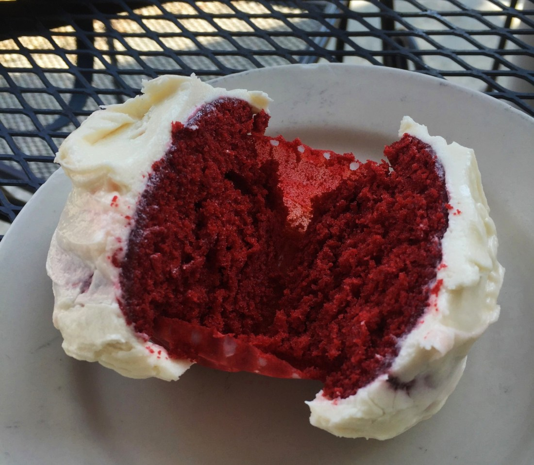 The red velvet cupcake from Cake Cafe