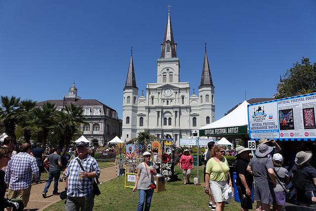 Jackson Square is just one of 23 stages at French Quarter Fest, with over 1,700 musicians and 300 performances over four days, plus incredible food and art at every turn at the biggest free neighborhood festival around!