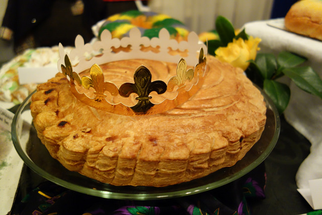 Unusual but Traditional: The traditional French style Galette des Rois from La Boulangerie Bakery on Magazine Street