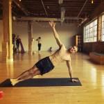 Author Jeff Schiffman side-planks it out at Reyn Yoga Studios on Magazine Street. (Photo courtesy of Jeff Schiffman)