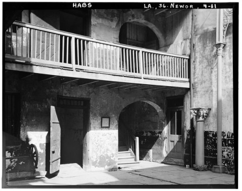 Interior courtyard of the Cabildo, constructed in the late 1790s. (1963 photo courtesy National Park Service)