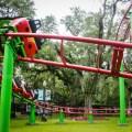 The ladybug roller coaster at City Park. (Photo: Rebecca Ratliff)