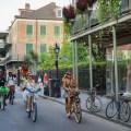 Cyclists on Royal Street. (Photo: Rebecca Ratliff)