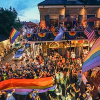 The bustling Bourbon Street in the French Quarter during the New Orleans Pride Festival. (Photo: Paul Broussard)
