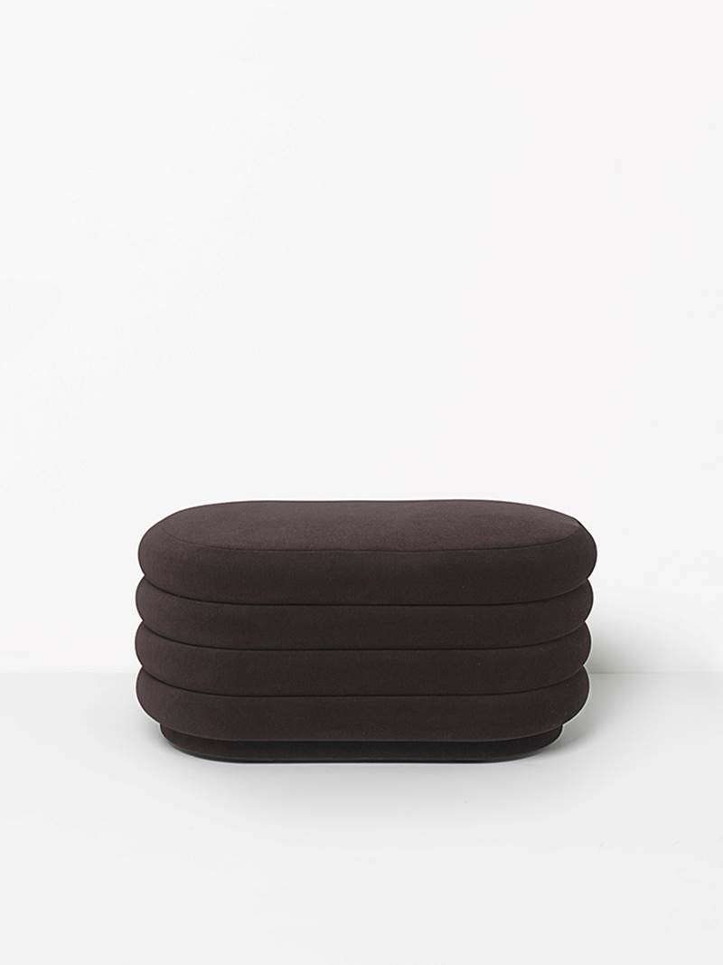 Magasin Chaises Bordeaux Pouf Oval Ferm Living