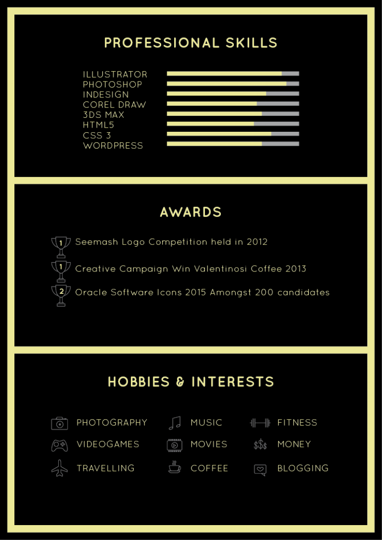 template illustrator cv