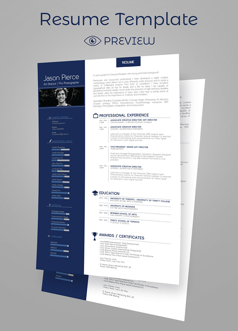 Free Creative Professional Photoshop Cv Template Simple Premium Resume Cv Design Cover Letter Template