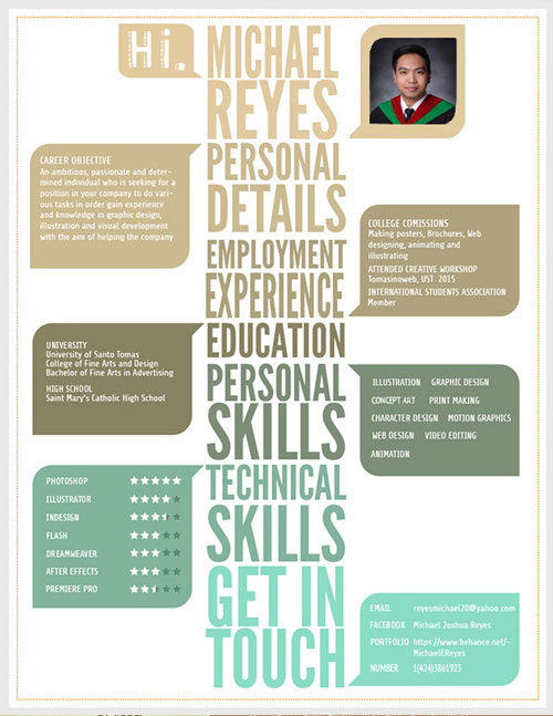 20+ Newest Creative Resume Designs For Inspiration 2018 - Good Resume - resume templates for designers
