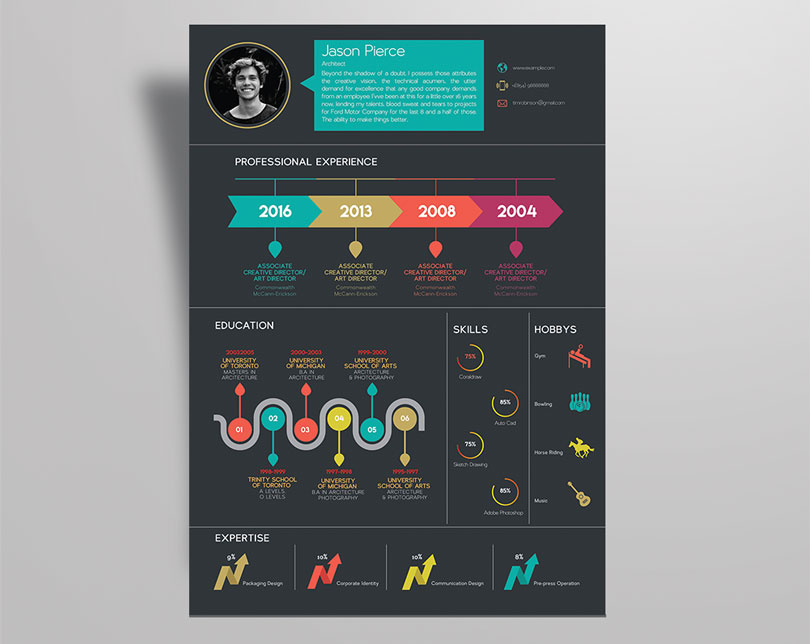 infographic resume template pdf