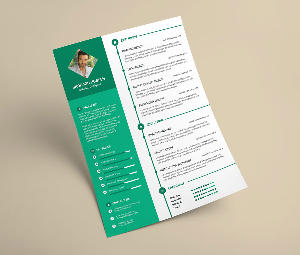 Clean Cv Template Creative Infographic Resume Templates Insurance