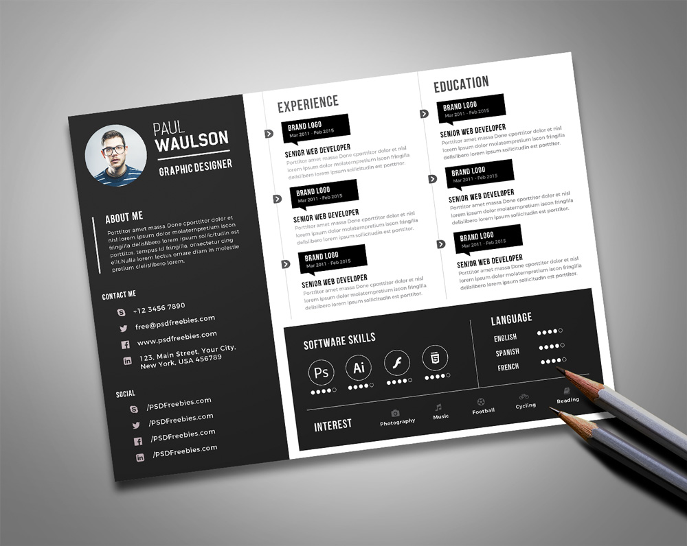 cv template design free download