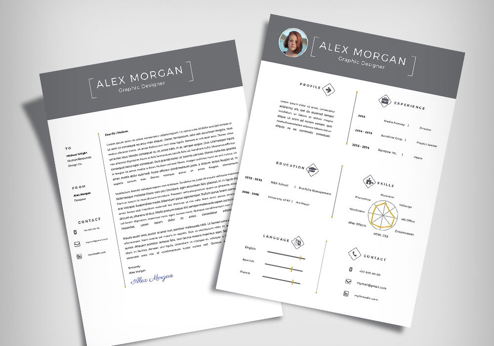 Free Minimalist Resume Template  Cover Letter Ai File - Good Resume