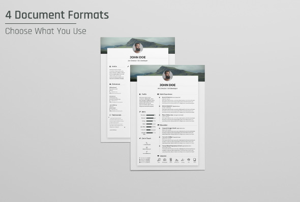 Free Resume CV Design Template  Cover Letter In DOC, PSD, AI  INDD