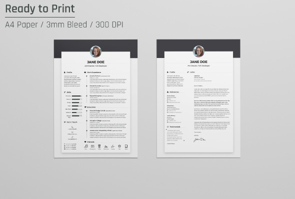 free template cv indd