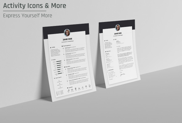 free cv template indd