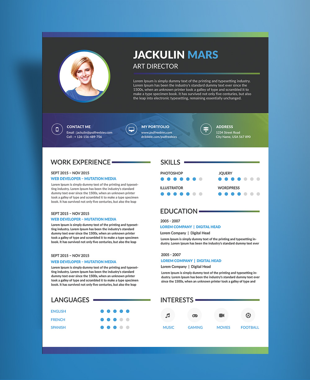5 Creative Ideas To Make Your Job Application Stand Out Beautiful Resume Cv Design Template Free Psd File Good