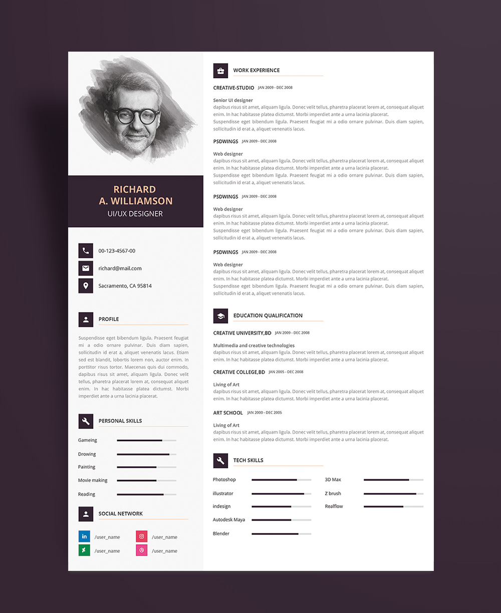 perfect professional resume template