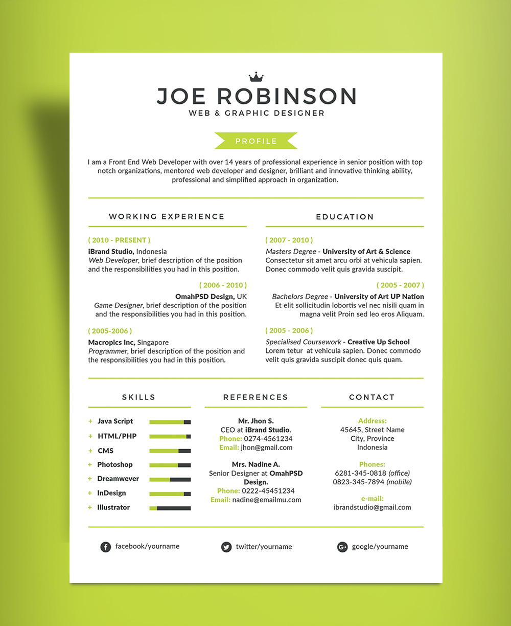 Professional Resume Example Sample Resumes For Professionals Free Elegant And Professional Resume Cv Design Template In